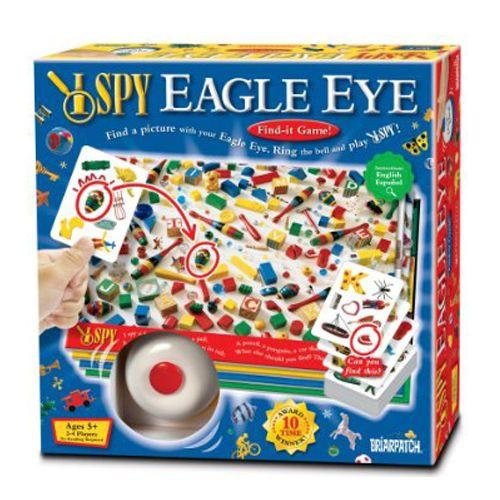 I Spy Eagle Eye Board Game is matching game is based on the popular I Spy series of books. The game includes four boards filled with pictures of various objects.