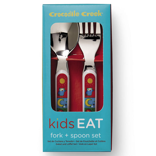 Crocodile Creek Cutlery Set Kids World for learning to eat The Toy Waogon