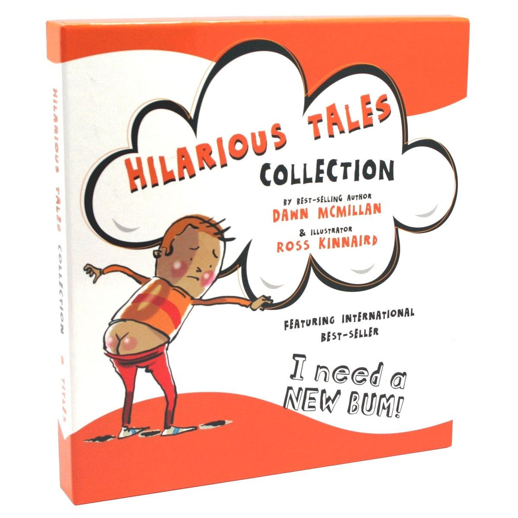 Hilarious Tales Collection - Featuring Best Seller 'I Need A New Bum!' 6 best selling titles from acclaimed author Dawn McMillan, discover the magic word in a brand new adventure for bed time stories.