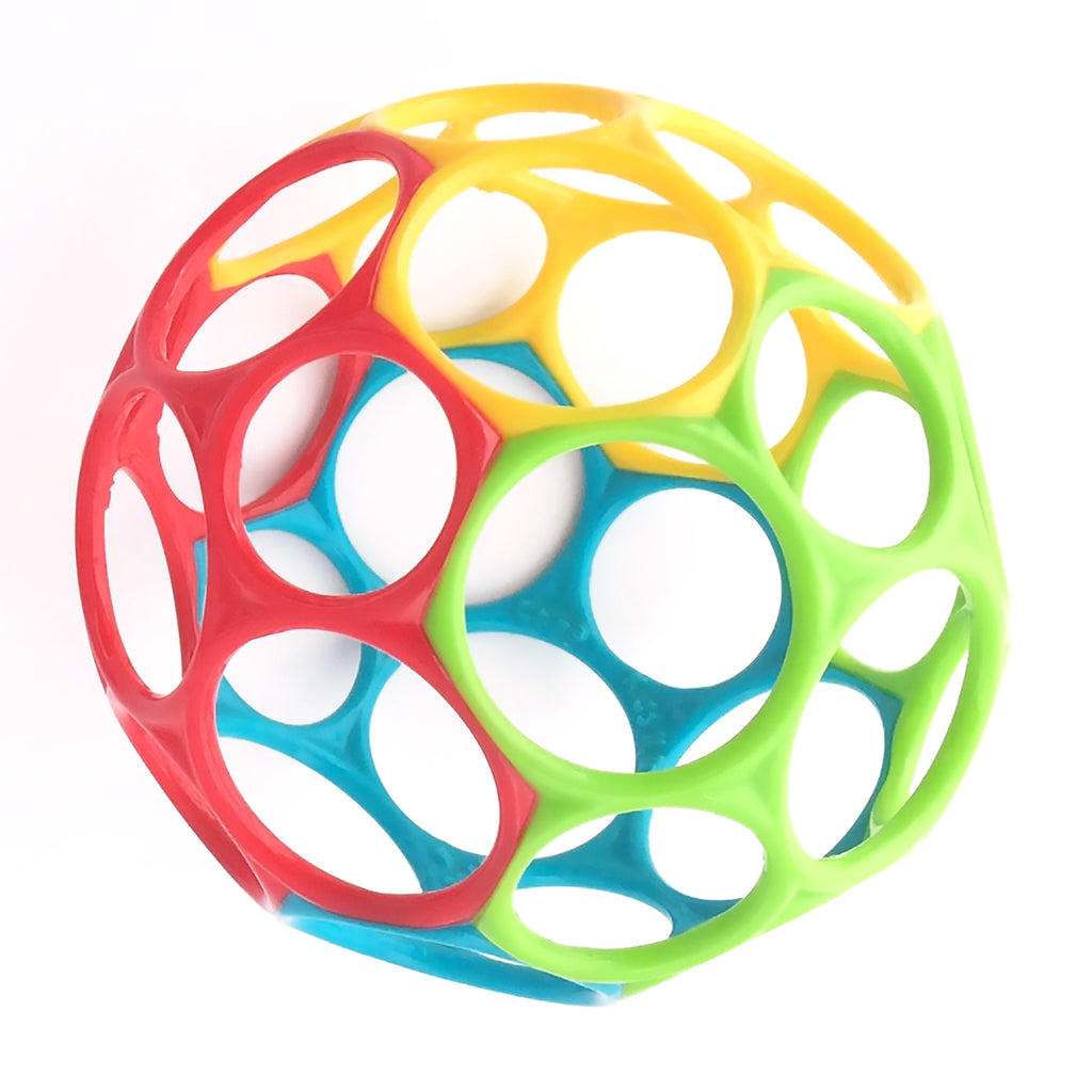 "O Ball 4"" is a award-winning flexible design allows babies of all ages to grip, catch, and throw a ball with ease."
