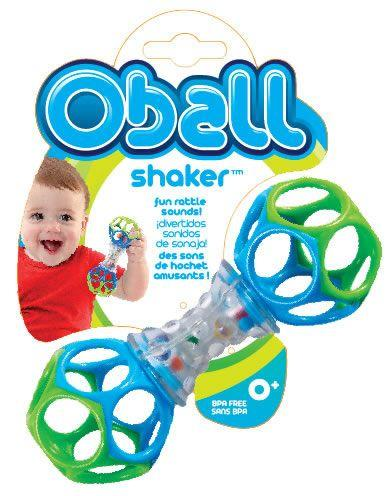 Baby will love being able to shake, rattle and teethe all at once. The Oball Shaker is easy to hold and features colourful rattle beads to create fun sounds.