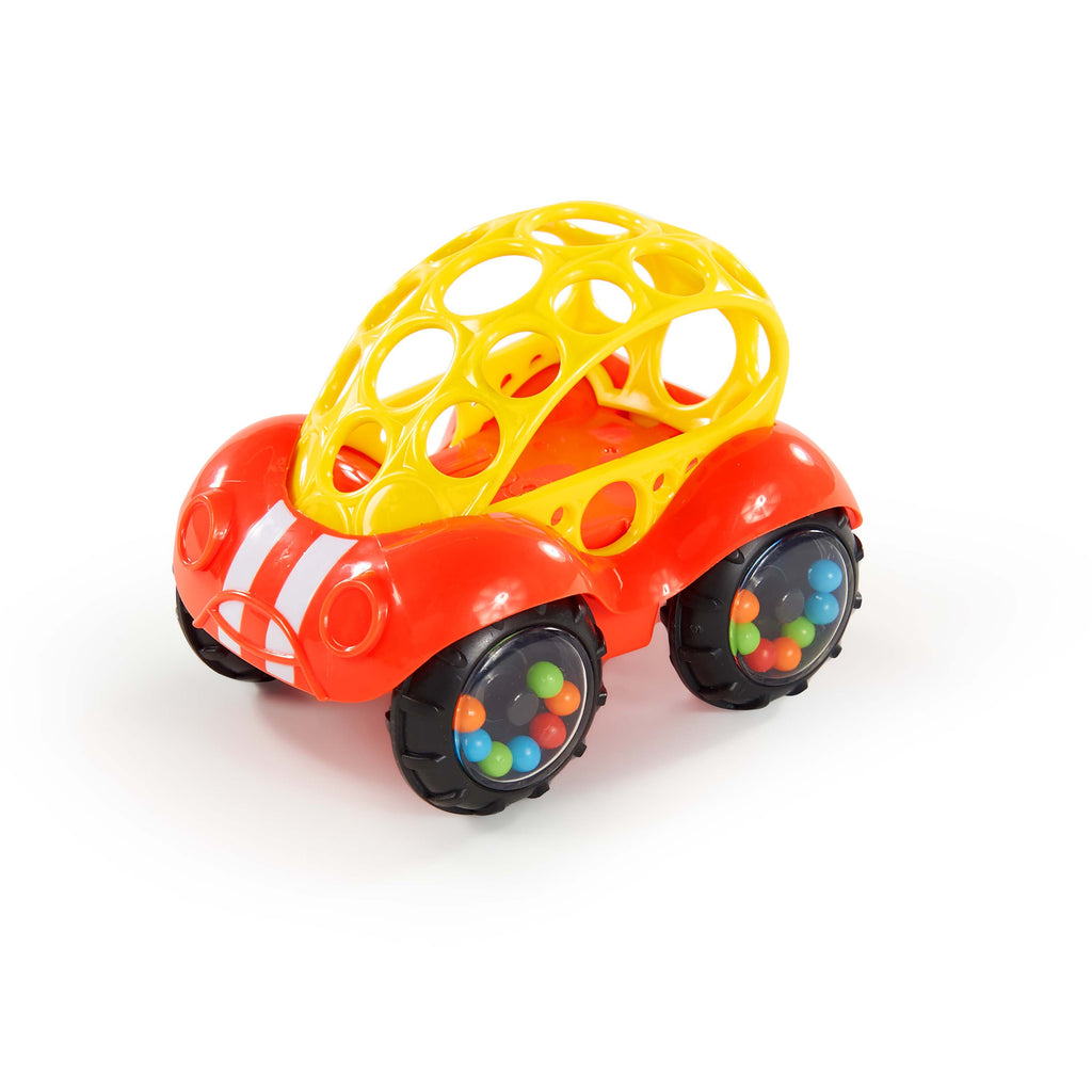 O Ball Rattle & Roll - Red & yellow - The Toy Wagon