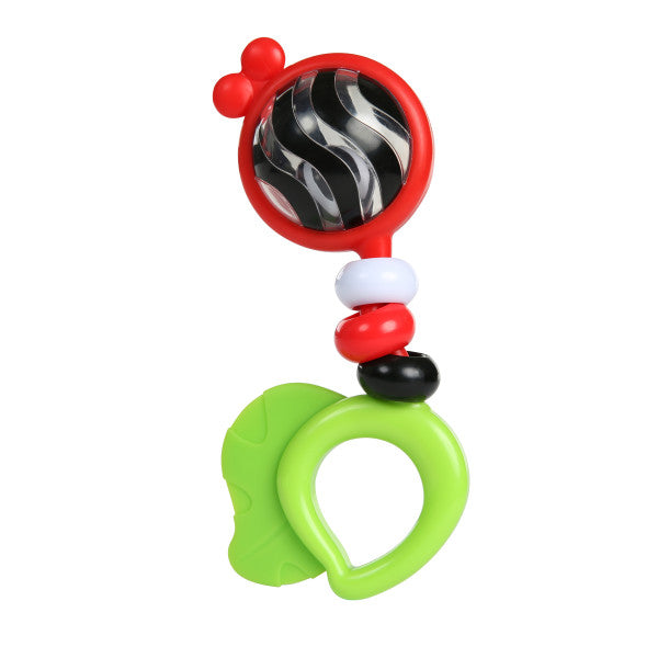 Baby Einstein Bright Bold Rattle & Teether for first teeth The Toy Wagon