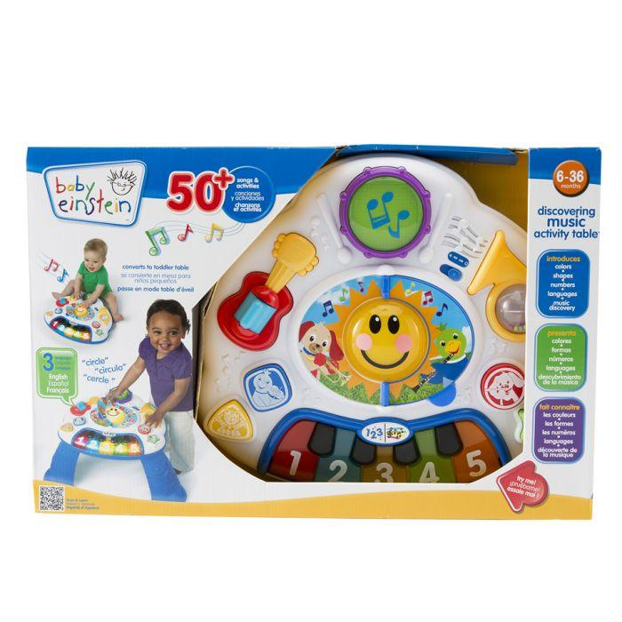 Baby Einstein Activity Table  is the best infant toy to engage kids in 3 languages.