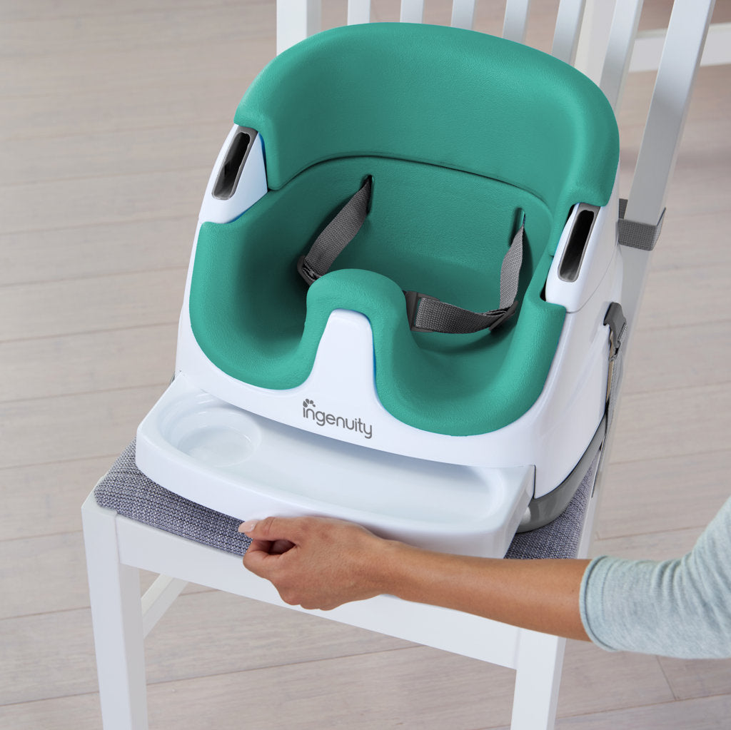 Ingenuity Baby Base-Small Booster Seat - Ultramarine Green