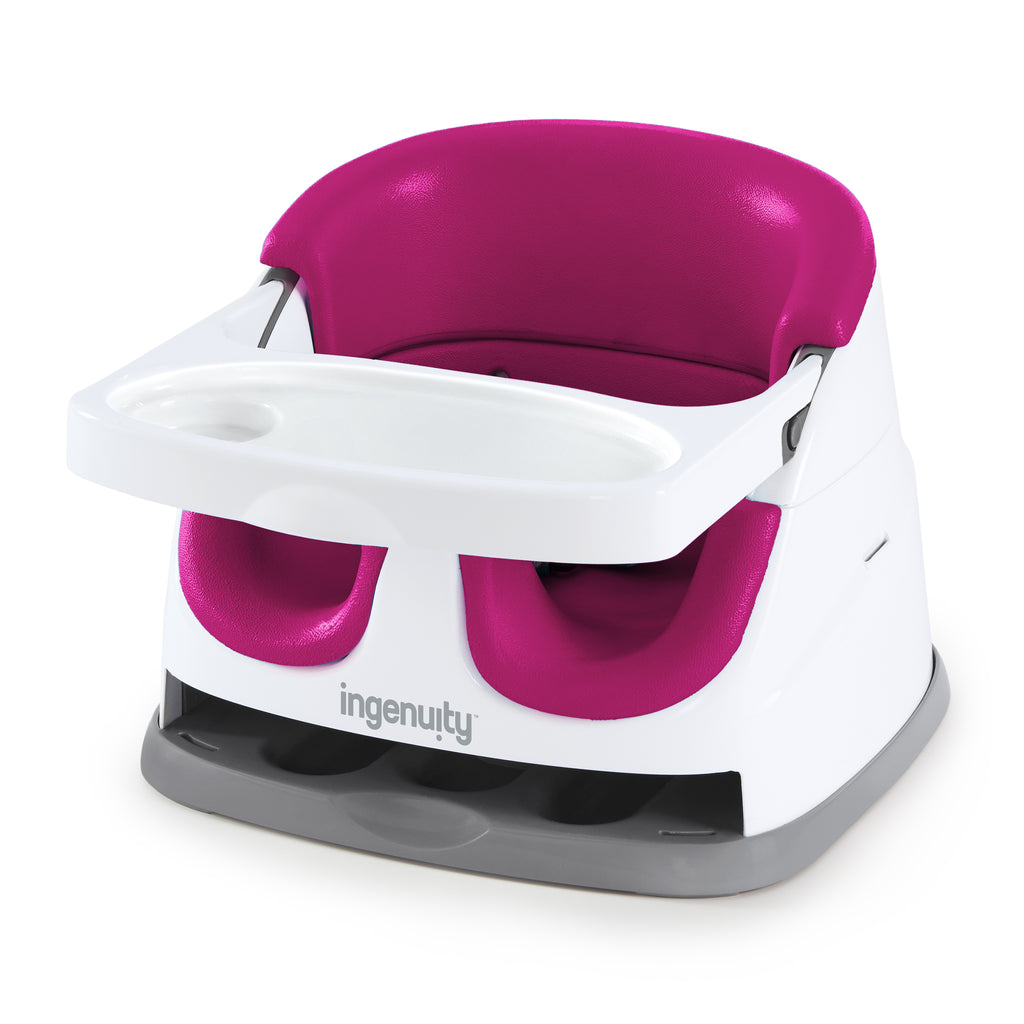 Ingenuity Baby Base-Small Booster Seat - Pink Flambe