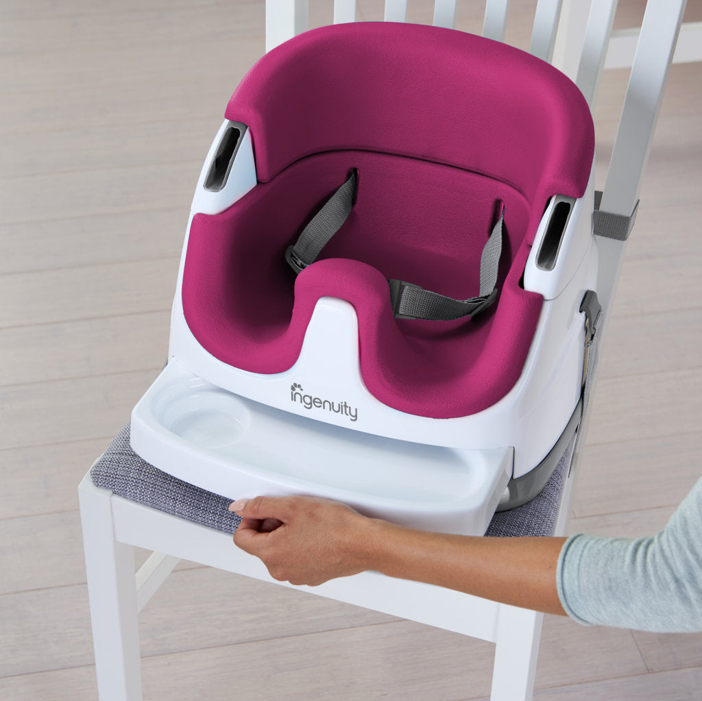 Ingenuity Baby Base-Small Booster Seat - Pink Flambe - The ...