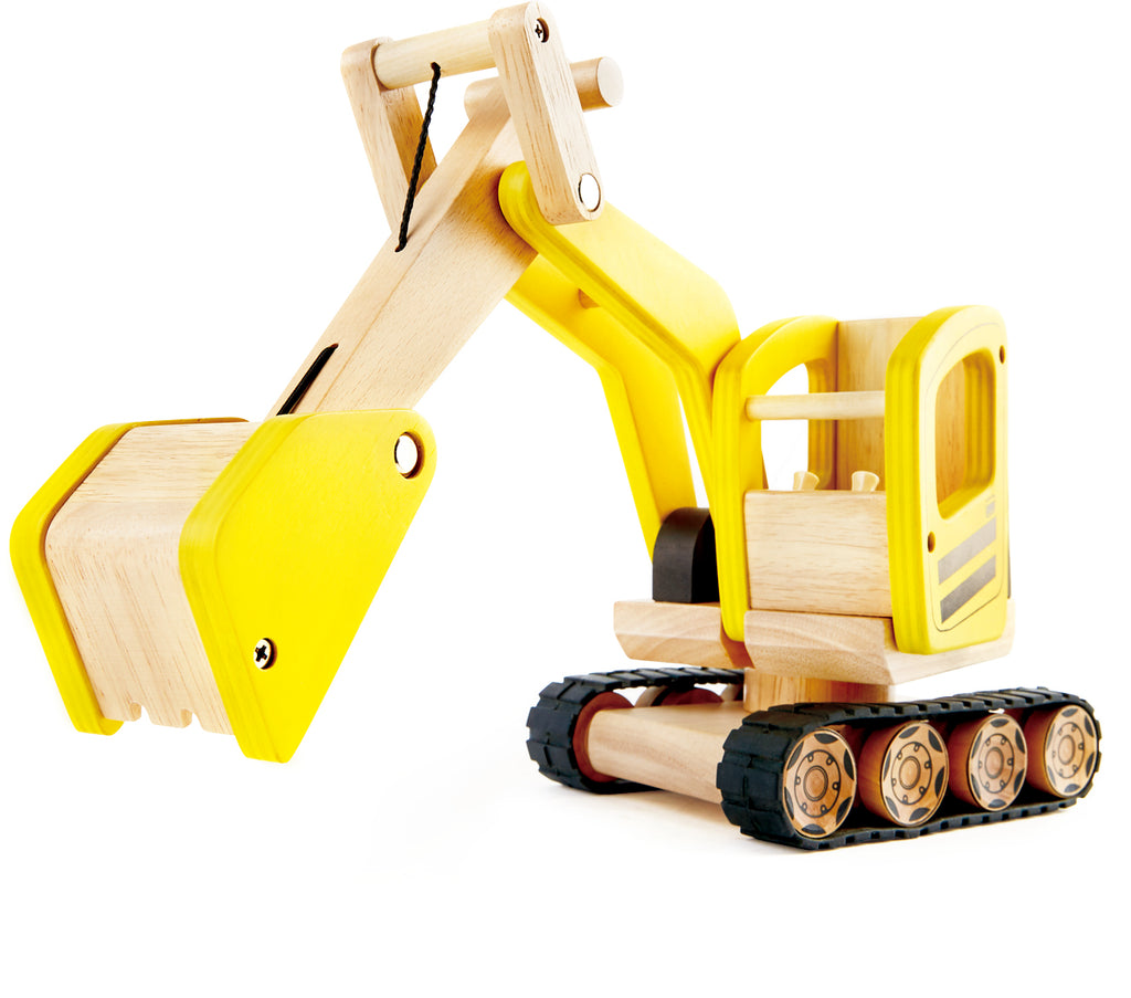 PINTOY Digger high quality wooden toys for kids The Toy Wagon