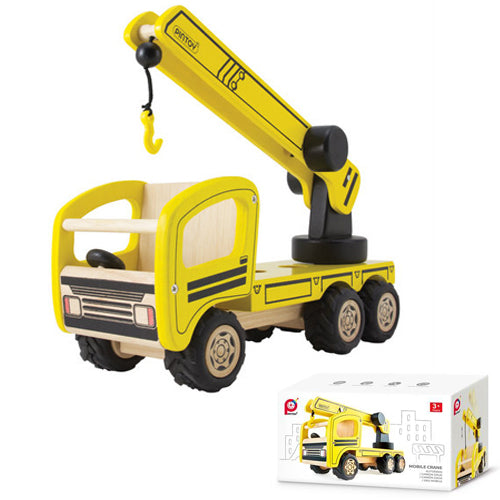 PNTOY Mobile Crane high quality wooden toys for kids The Toy Wagon