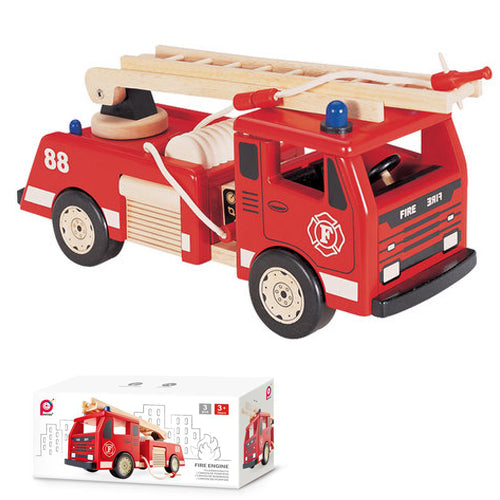 PINTOY Fire Engine high quality wooden toys for kids The Toy Wagon