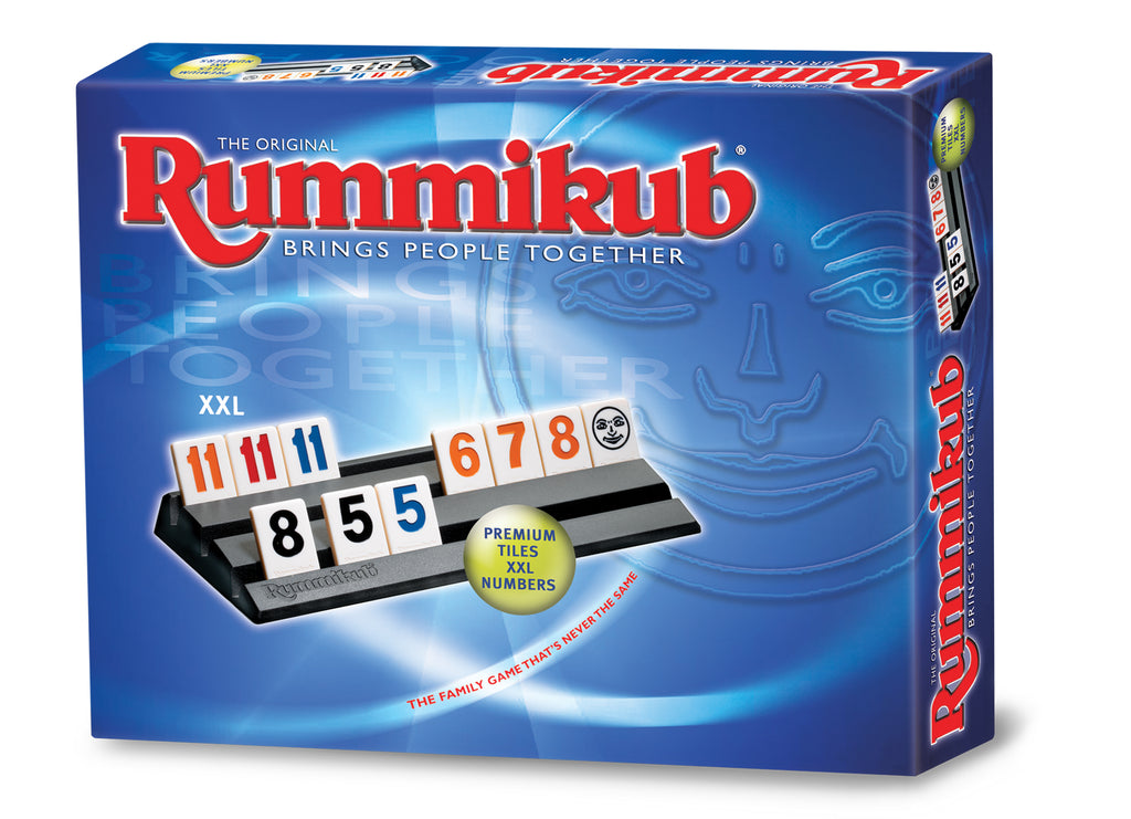 Rummikub game with elegant tiles and XXL numbers for a clearer view of the game.