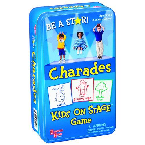 University Games Charades Kids on Stage Tin is a creative way to encourage confidence and develop communication skills in young children.