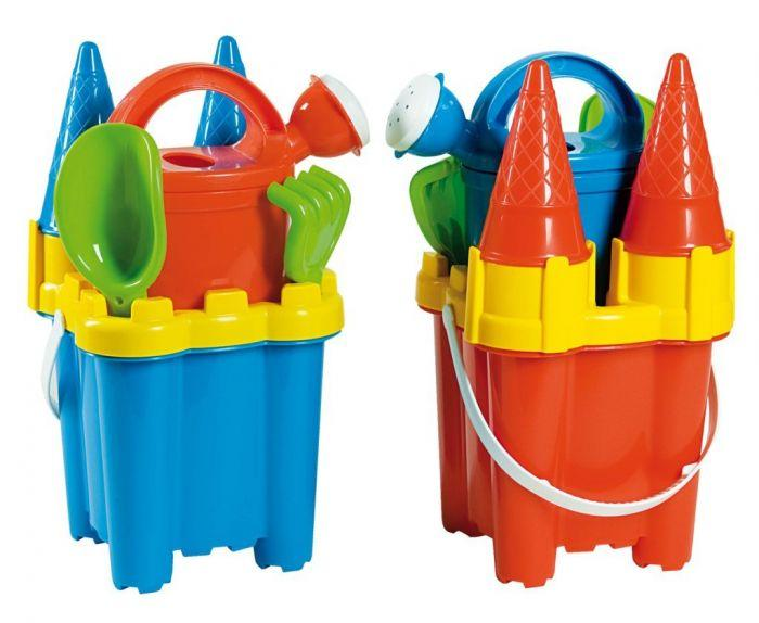 Summertime Cone Castle Bucket Set is a great accessory to have for winter and summer water and sand play.