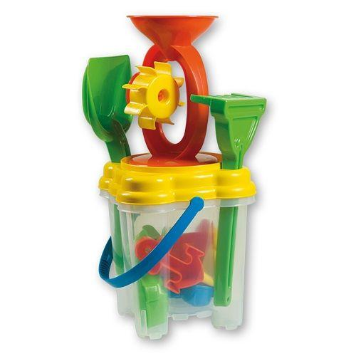 Summertime Square Transparent Bucket Set is a great accessory to have for winter and summer water and sand play.