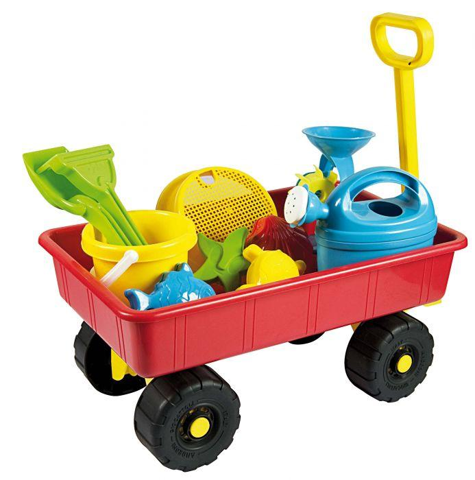 Summertime Trolley w Sand & Water Play items is a great accessory to have for winter and summer water and sand play.
