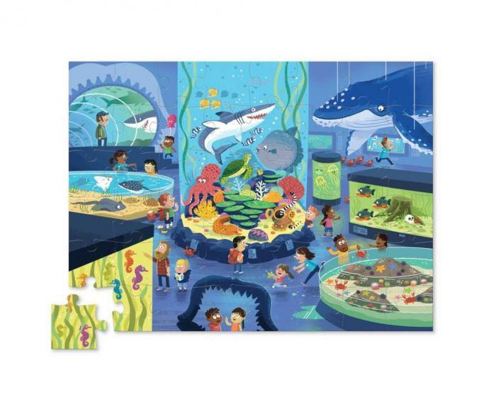 Crocodile Creek Shaped Box Puzzle Aquarium 48pc - The Toy Wagon