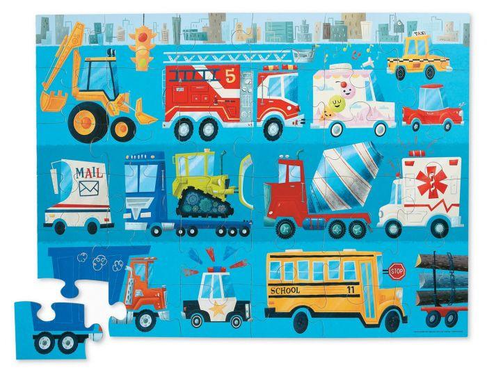 Crocodile Creek Shaped Box Puzzle Fire Truck - The Toy Wagon