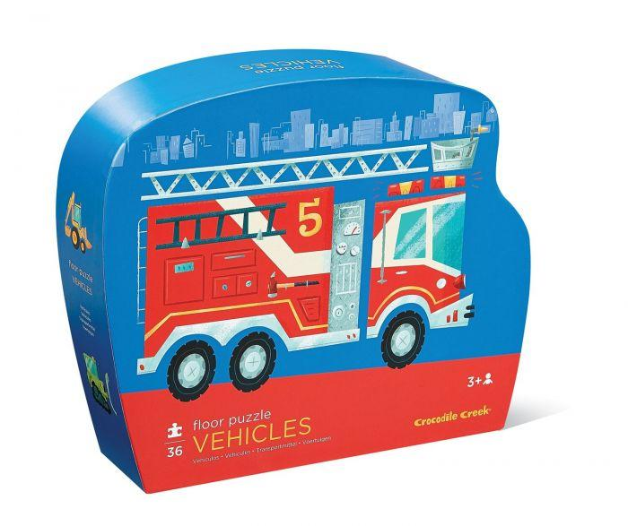 Crocodile Creek Shaped Box Puzzle Fire Truck is a High-quality puzzle for boys.