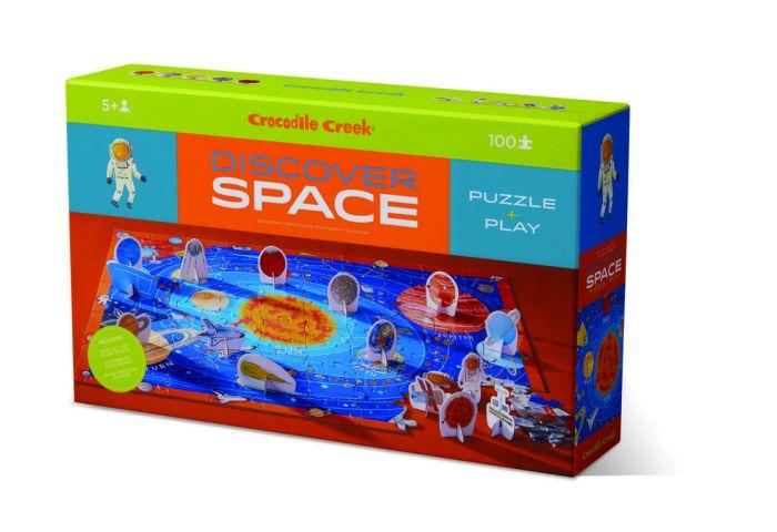 Crocodile Creek Discovery Puzzle Space 100pc - The Toy Wagon