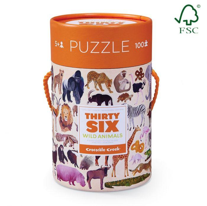 Crocodile Creek 36 Animal Wild Animals 100pc is a High-quality puzzle for children.