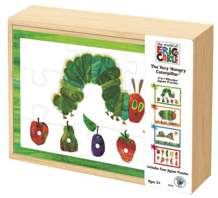 Eric Carle VHC 4 in 1 Wood Puzzle Box is the puzzle that every kid needs.