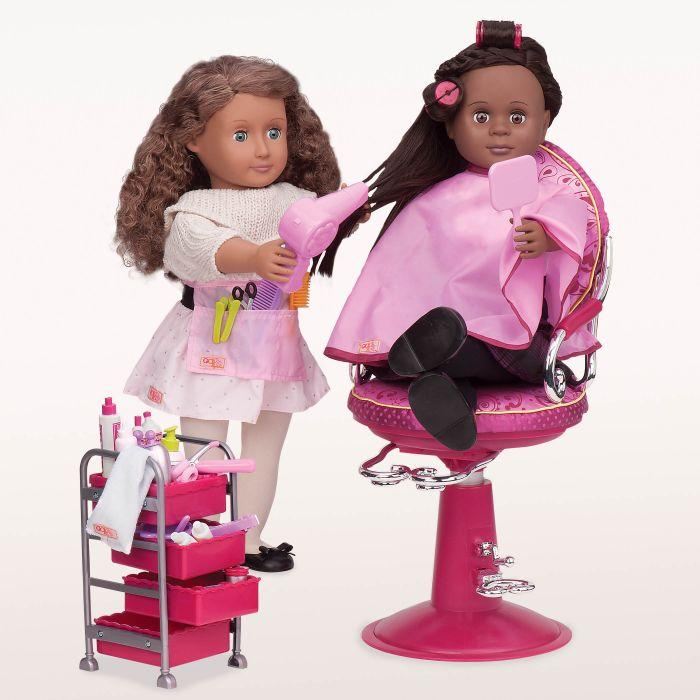 Our Generation Accessory Set Home - Berry Nice Hair Salon Play Set is an amazing for creative play for young girls.