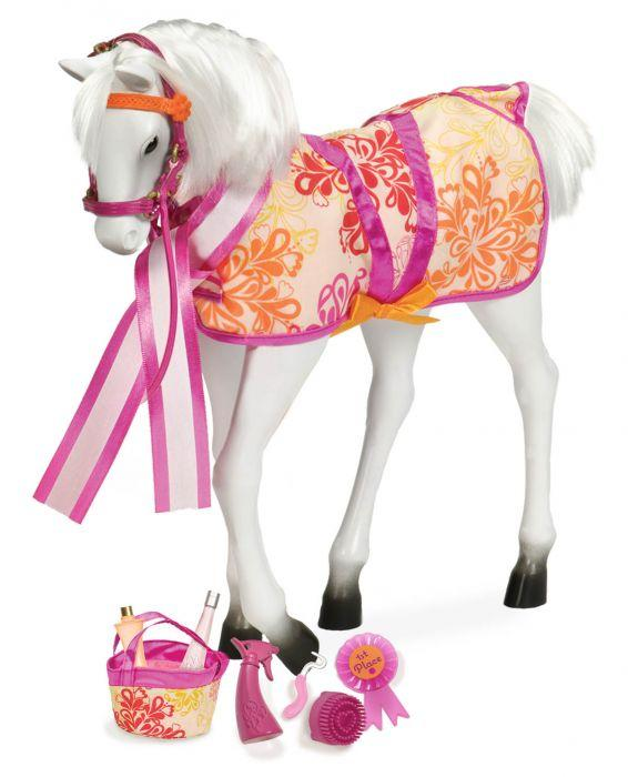 "Our Generation Horse Foal Lipizzaner for 18"" Doll is amazing for creative play for young girls."