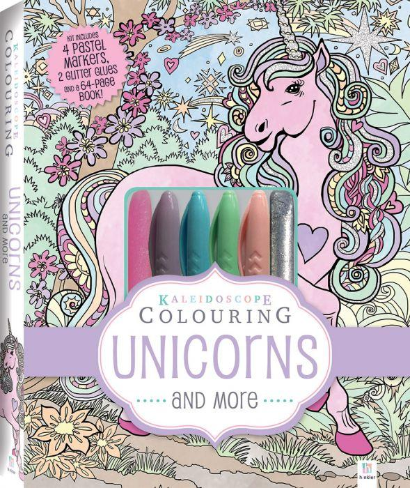 Kaleidoscope Colouring Kit: Unicorns and More  is all kids need to get inspired to let their imagination run wild.