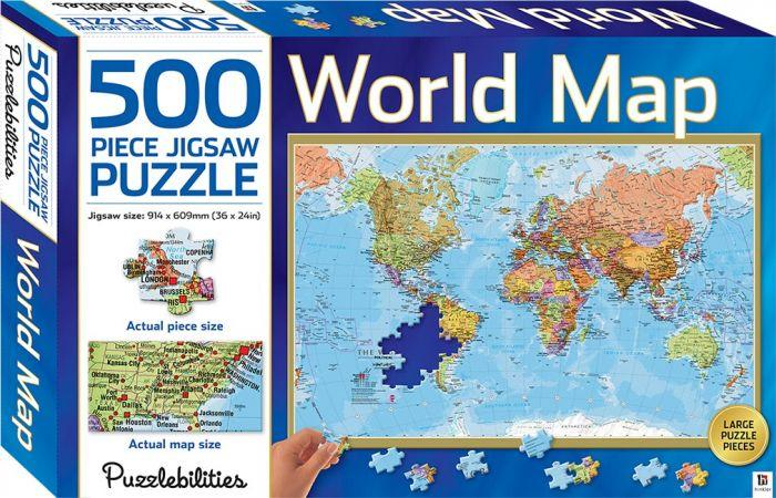 World 500 Piece Jigsaw Puzzle will help your kids minds and your puzzles skills.