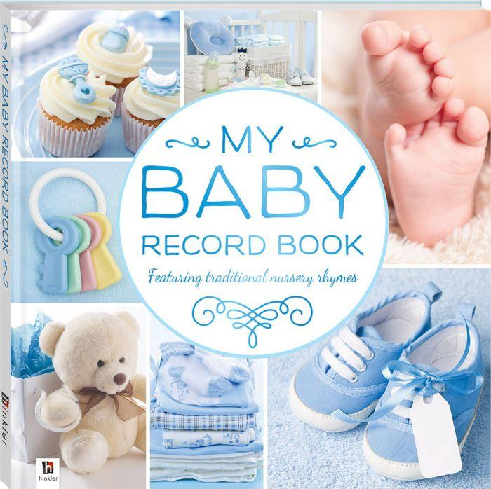 My Baby Record Book Blue Create a lasting memento of your baby's first year.