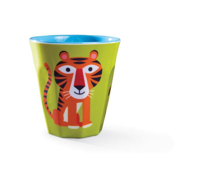 Crocodile Creek Melamine Cup Jungle Jamboree has bright bold colours that are sure to make meal times fun for littlies.