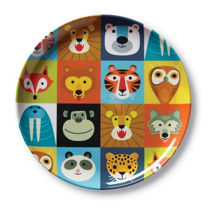 Crocodile Creek Melamine Plate Jungle Jamboree has bright bold colours that are sure to make meal times fun for littlies.