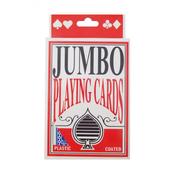Playing Cards Jumbo Jumbo playing cards with plastic coat for protection.