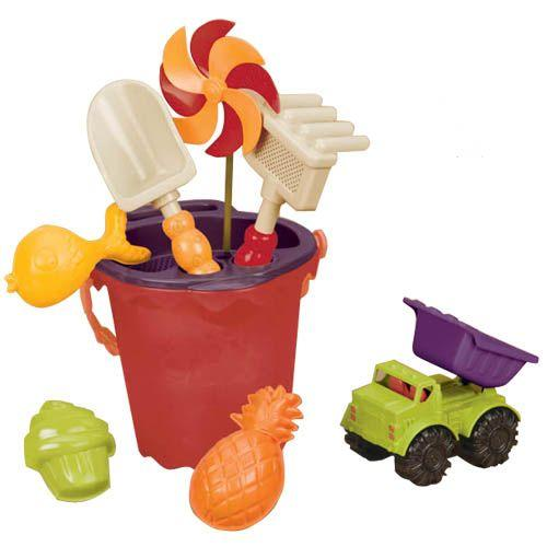 B. Sands Ahoy Medium Bucket - Mango - The Toy Wagon