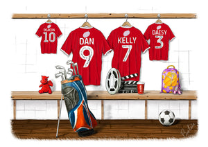 Family Team Shirts with Personalised Elements