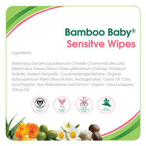 Aleva Natural Bamboo Baby Sensitive Wipes - 72ct