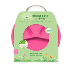 Learning Plate-Pink-12mo+