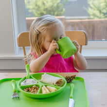 Load image into Gallery viewer, Learning Plate-Green-12mo+