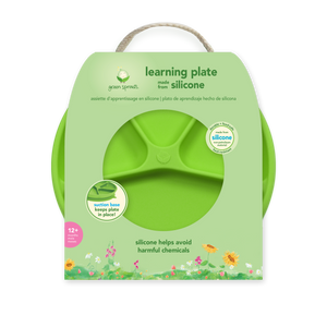 Learning Plate-Green-12mo+