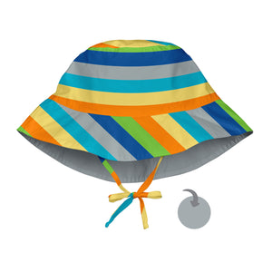 Mix & Match Reversible Bucket Sun Protection Hat-Grey Multistripe