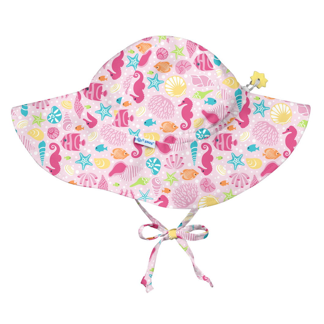 Brim Sun Protection Hat-Pink Sealife