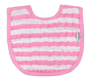 Muslin Bibs made from Organic Cotton (2pk)-Pink Set-0/12mo