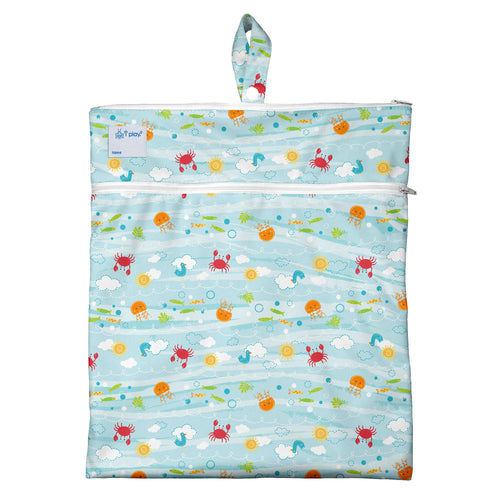 Wet & Dry Bag - Light Aqua Sea Friends