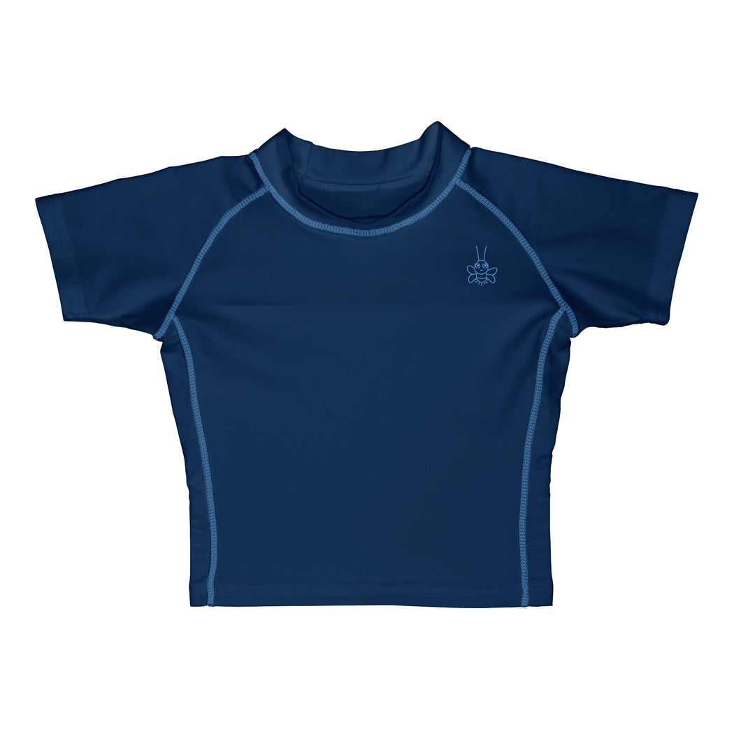 Short Sleeve Rashguard Shirt-Navy