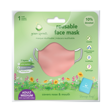 Load image into Gallery viewer, Reusable Face Mask Adult-Coral