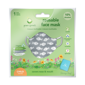 Reusable Face Mask Child-Gray Fish
