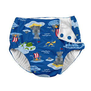 Mix & Match Snap Reusable Absorbent Swimsuit Diaper-Royal Viking Sea