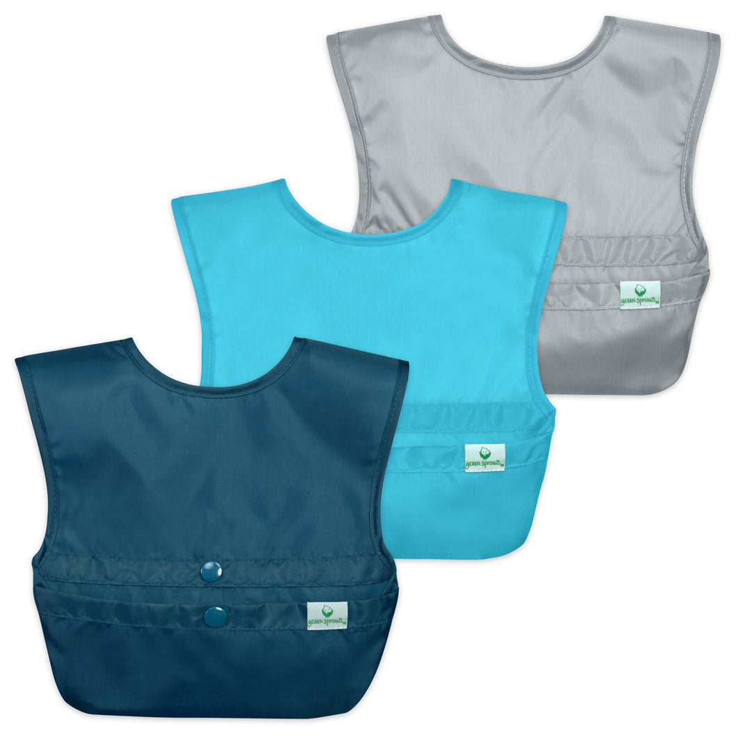 Snap & Go™  Easy-wear Bib (3 pack) 9-18 mo - Blue Set