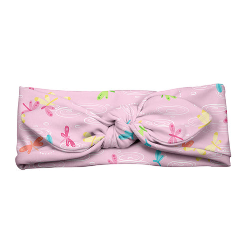 Swim & Sun Headband-Light Pink Dragonfly Pond-3mo+