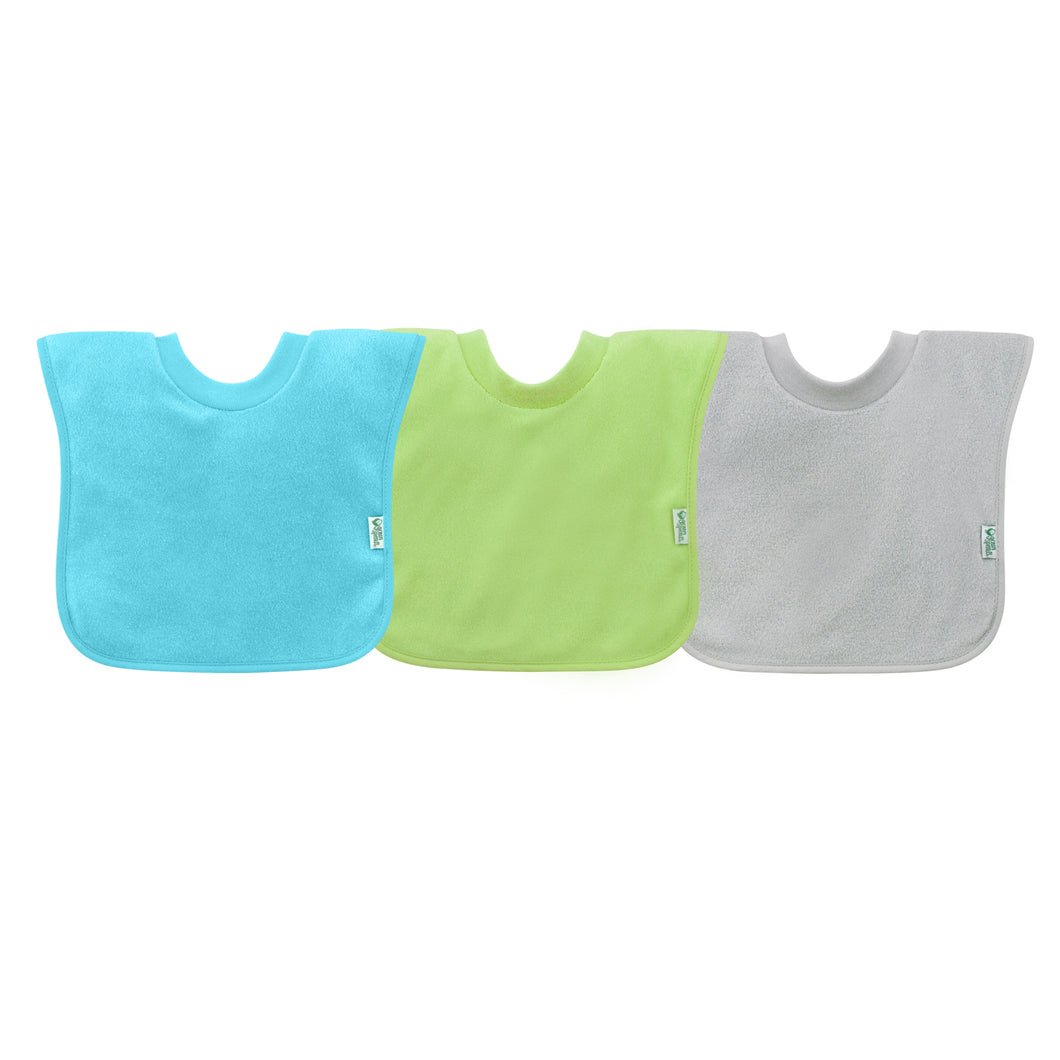 Pull-over Stay-dry Toddler Bib (3pk)-Aqua Set-9/18mo